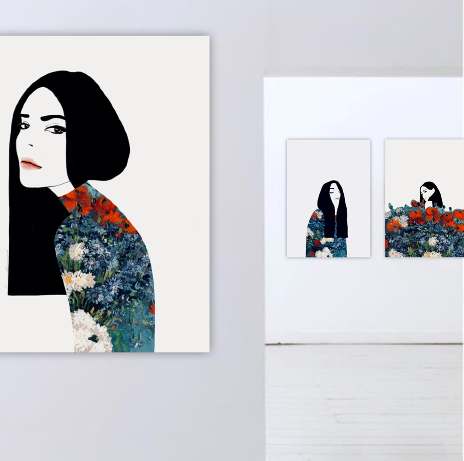 THE GIRL WITH BLACK HAIR / Van Gogh Collection by Ramona Russu